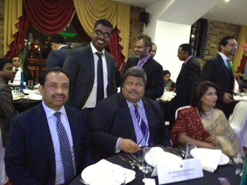 Bajloor speaks at reception for Bangladeshi High Commissioner