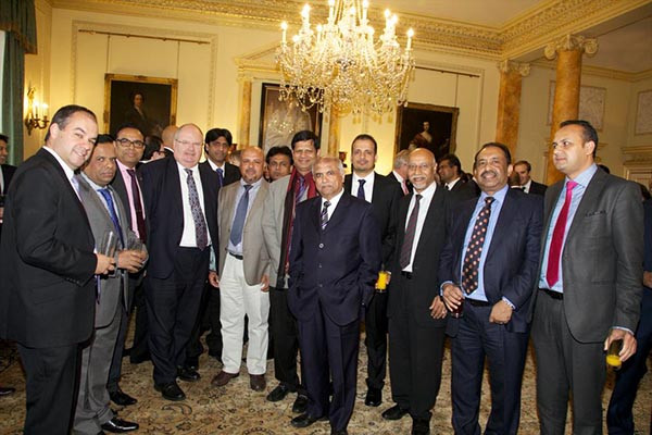 Bajloor and colleagues with Eric Pickles MP at 10 Downing Street