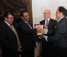 Bajloor with Azad Ali, Robert Gibson British High Commissioner to Bangladesh & A.Rouf