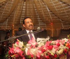 Bajloor giving a speech