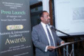 UKBCCI President, Bajloor Rashid MBE, speaks at launch.