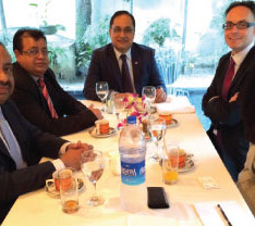 Bajloor and his UKBCCI colleagues met with the Deputy British High Commissioner and UKTI Director over lunch in Dhaka - 29th September 2014