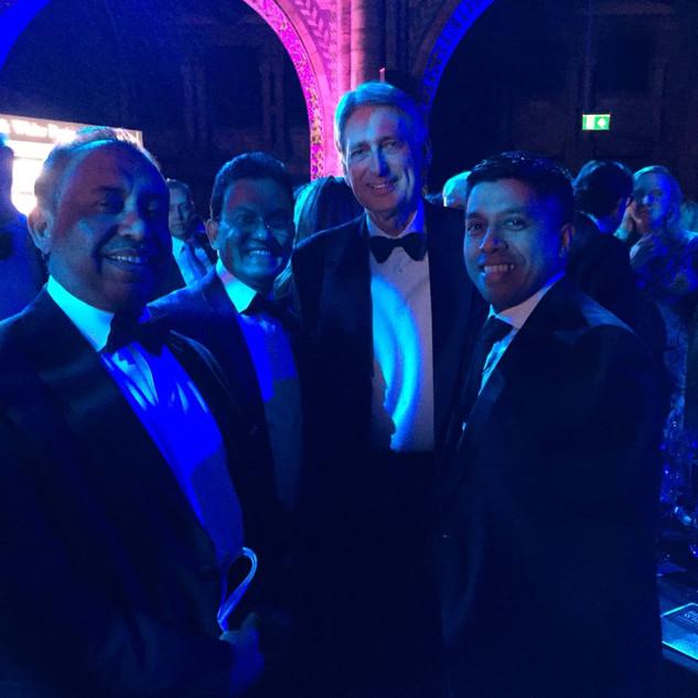 Bajloor with the Chancellor, Philip Hammond MP.
