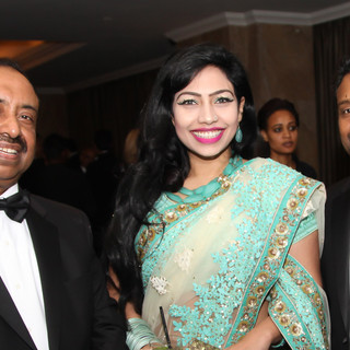Bajloor with guests at UKBCCI Awards