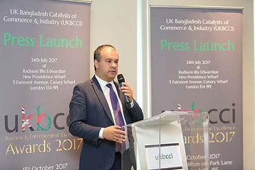 Paul Scully MP, speaks at the UKBCCI Awards launch 2017.