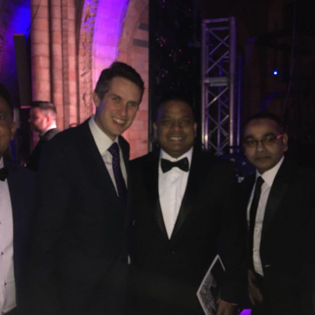 Bajloor with Gavin Williamson MP