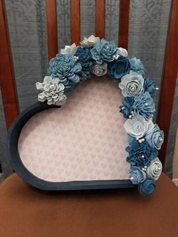 Blue Pearl Heart Box