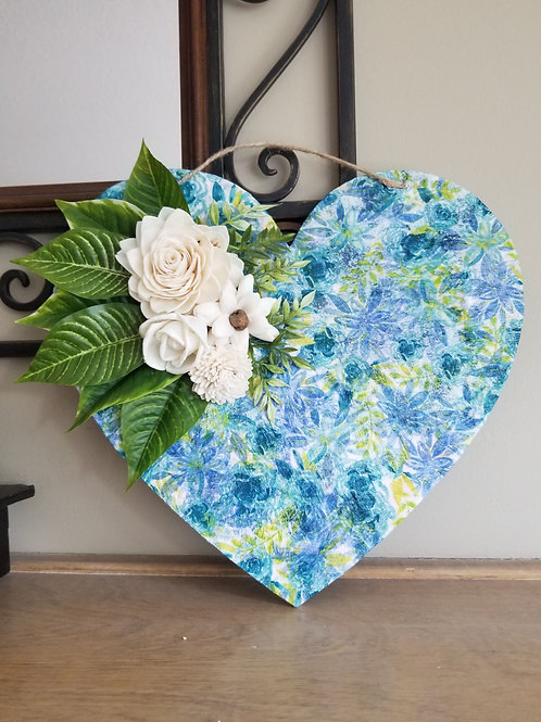 Blue Green Heart Board