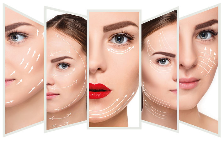 The young female face. Antiaging and thr