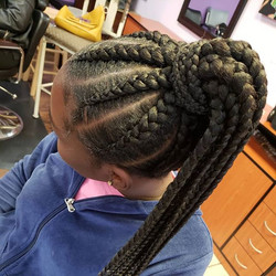 Just finished these  Feed-In cornrow upd