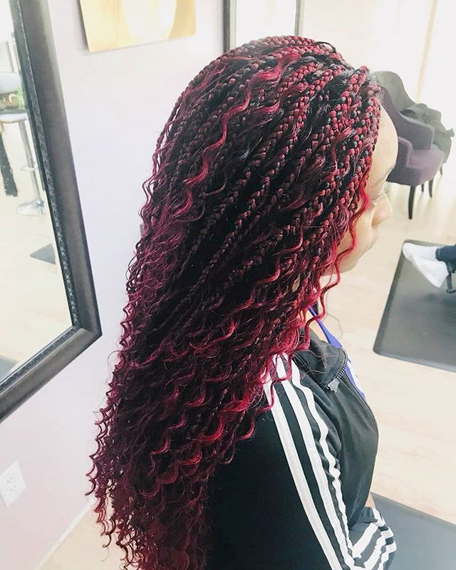 Fiery red Bohemian Braids anyone_ 🔥🔥 T