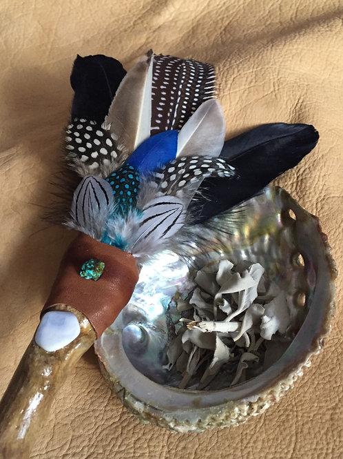 Smudging Feather Wand Medium