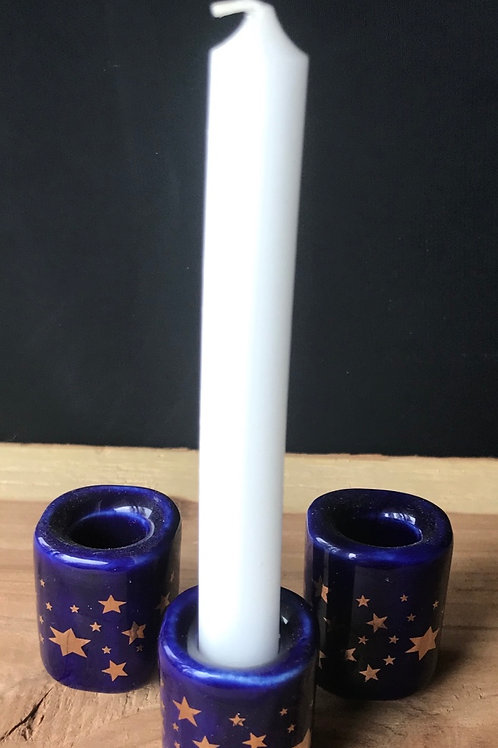 Chime Candle Holder (Blue/Stars)