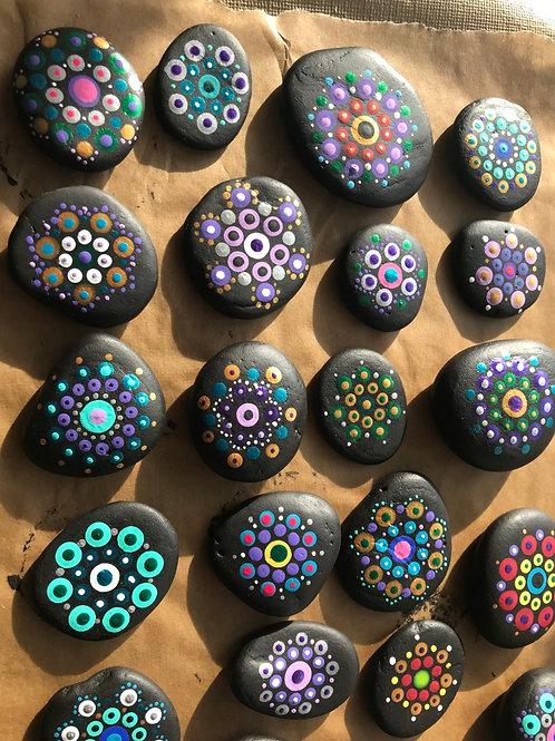 Mandala Mantra Palm Stones