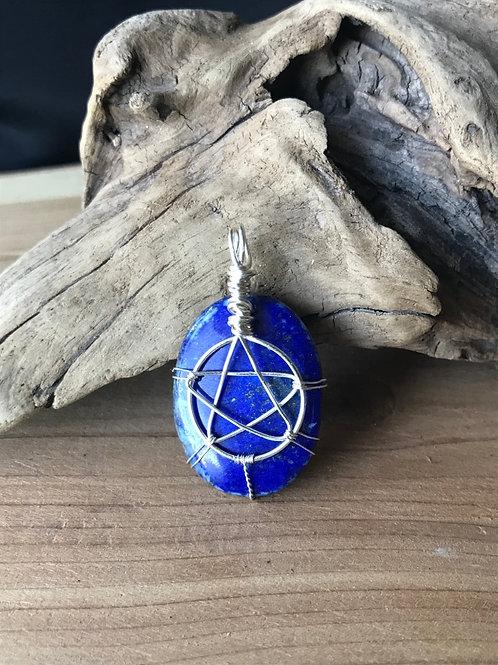 Pentagram Lapis Lazuli Pendant