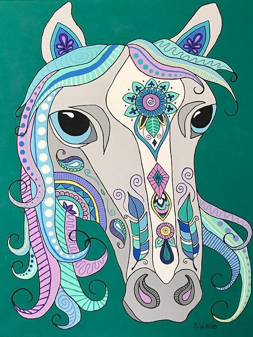 Horse Single Card