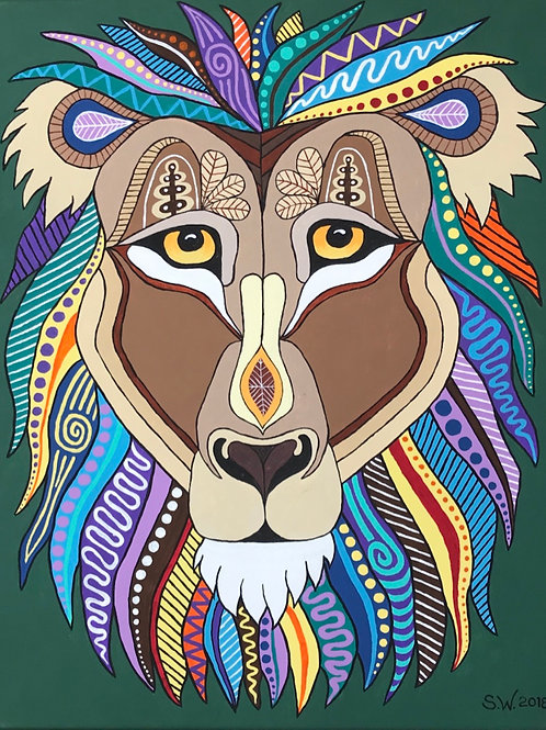 Lion Single Card