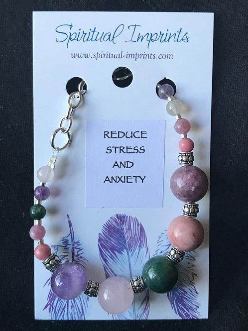 Reduce Stress - Silver Plated Bracelet