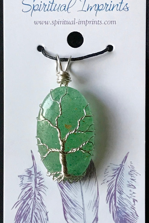 Tree Of Life Aventurine Pendant