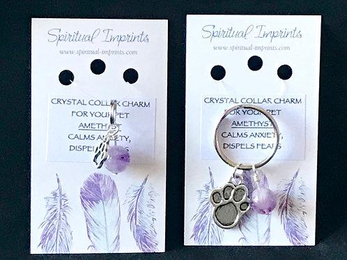 Amethyst Pet Collar Charm