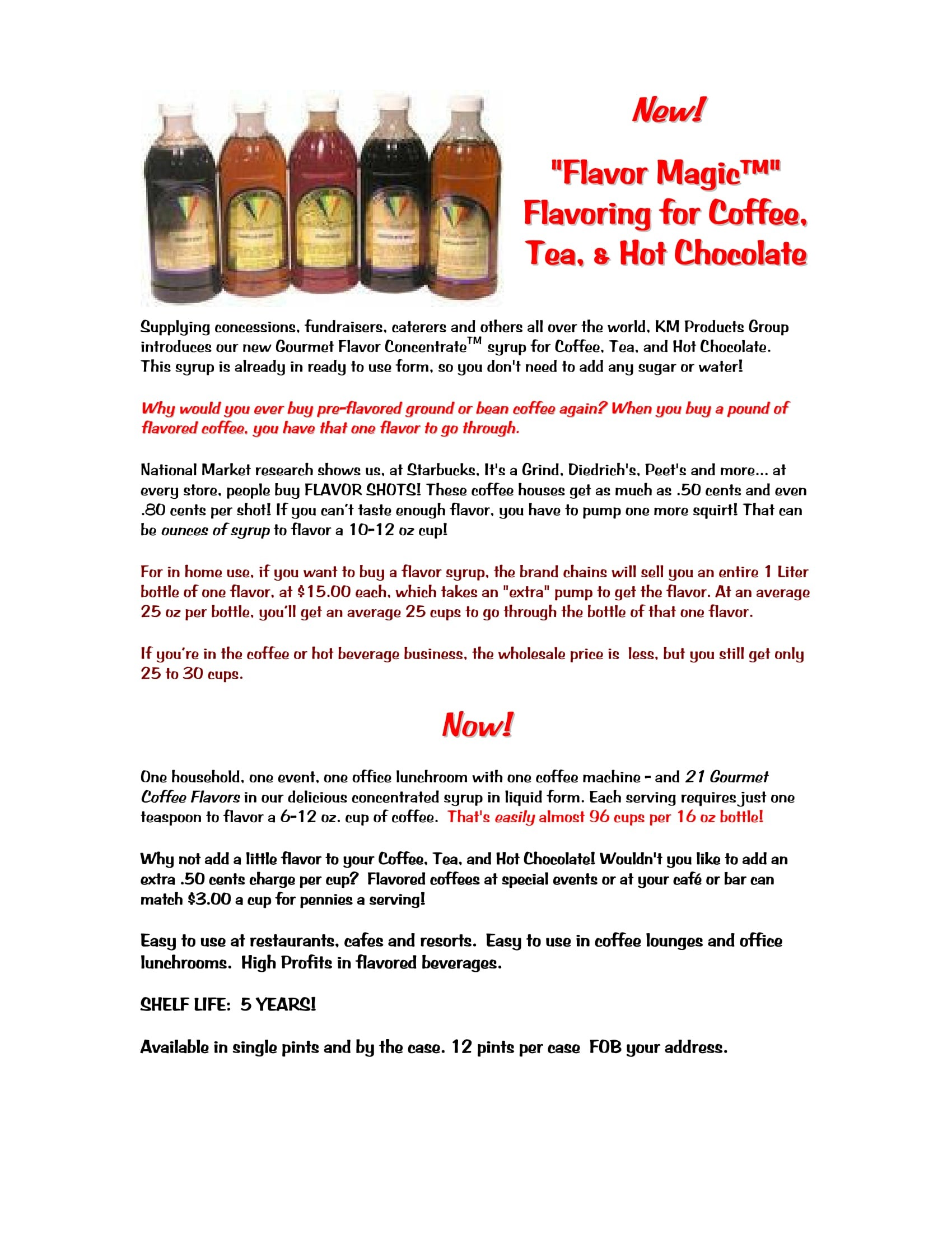 Coffee Flavor Magic Concentrate