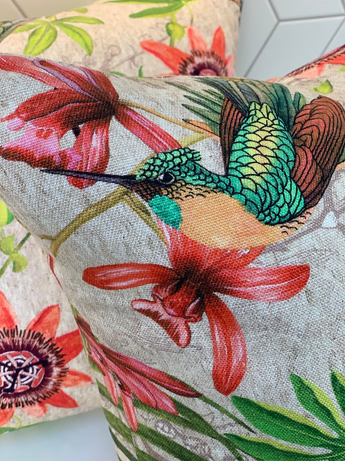Chivasso 'Fantastic Birds' cushion - 2 available