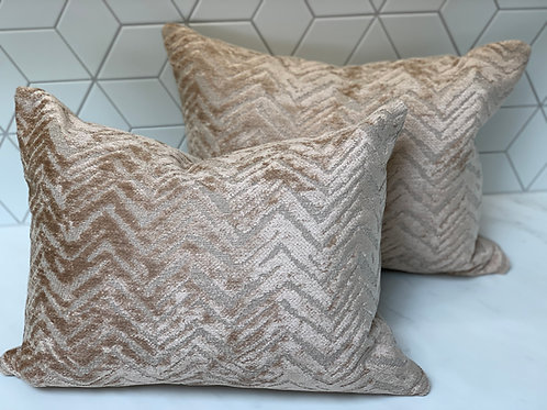 Chivasso 'Soft Dream' cushion with 'Hot Madison' reverse - 2 available