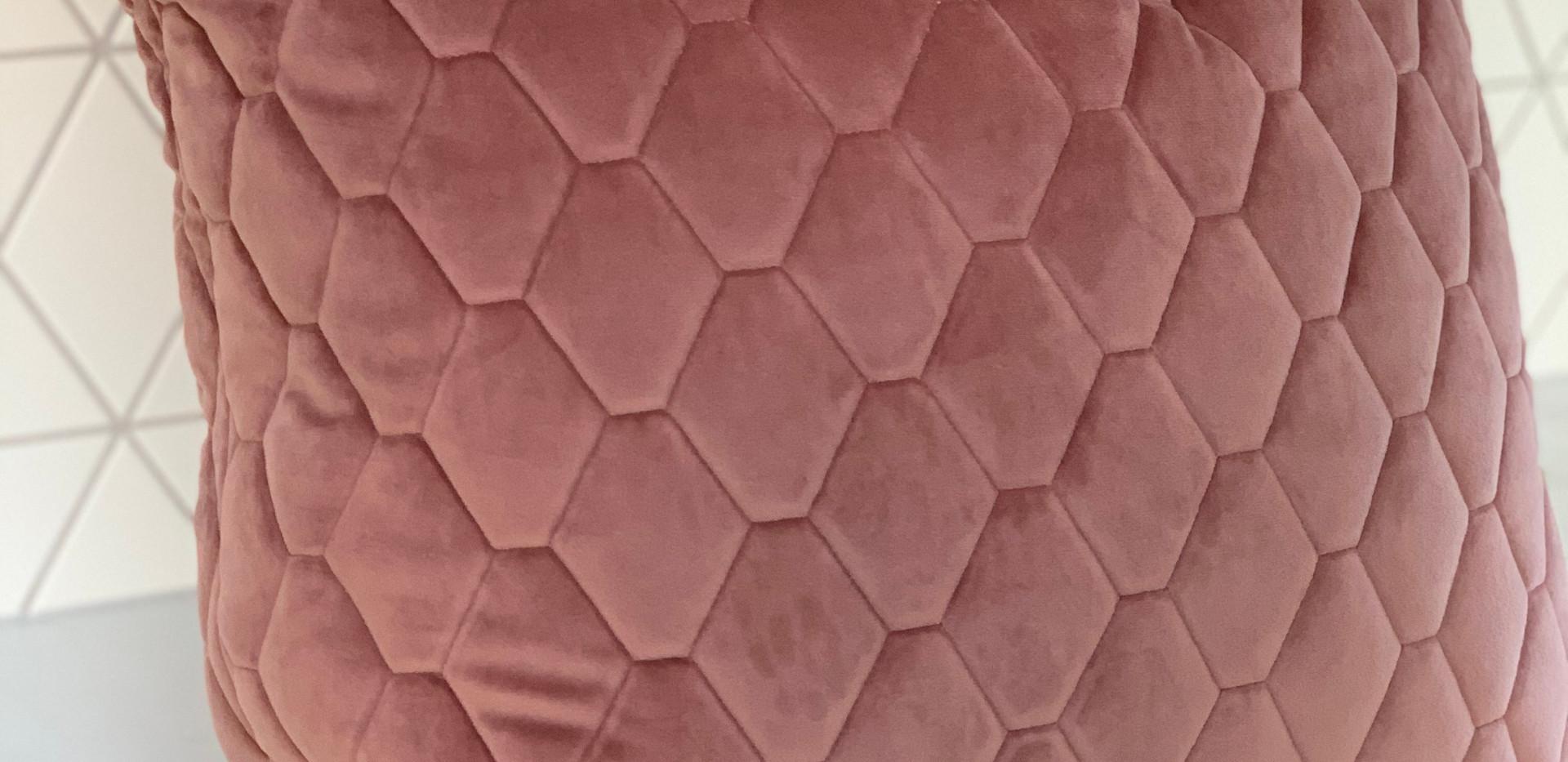 Quilted velvet cushion