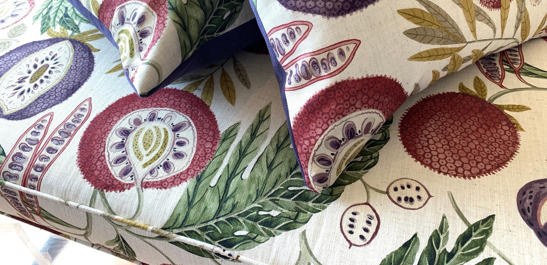Sanderson custom squab and cushions