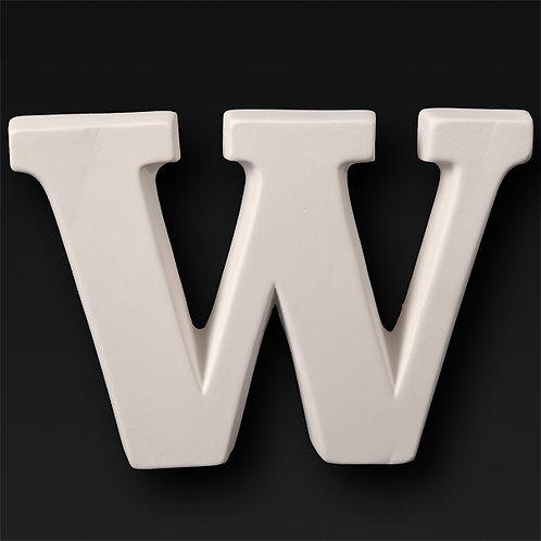 Letter W 12.7cm