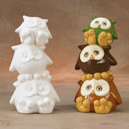 Pile of Owls Money Box