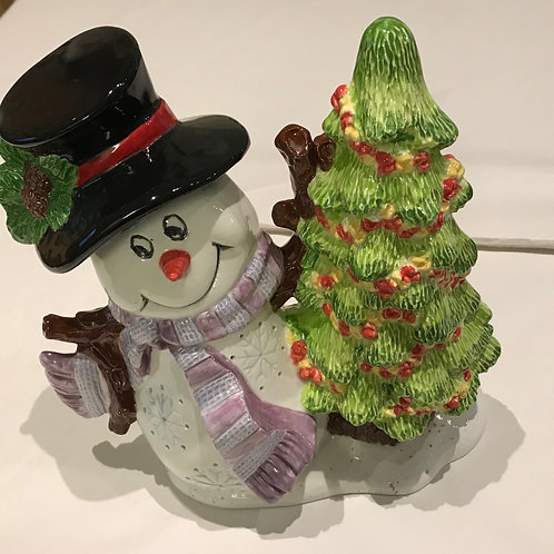 Snowman and Christmas Tree Decoration