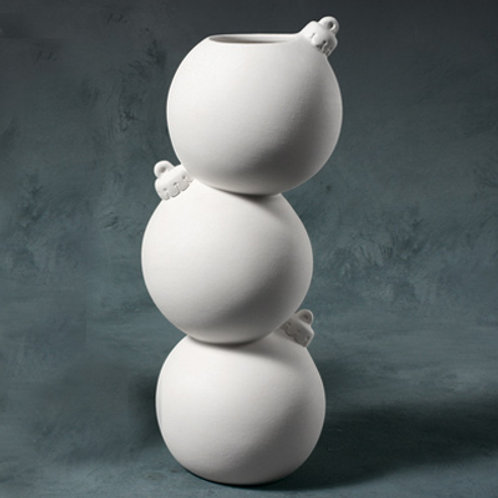 Stacked Bauble Vase