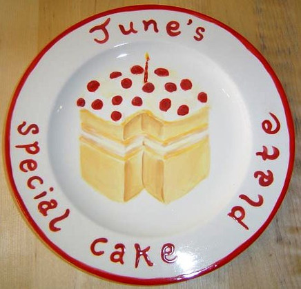 June's Cake Plate