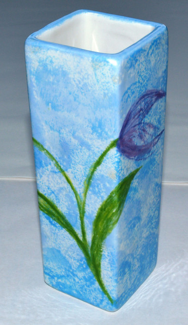 Square bud vase
