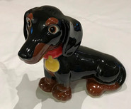 Black Dachshund Money Box