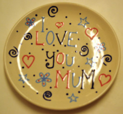 I Love You Mum Plate