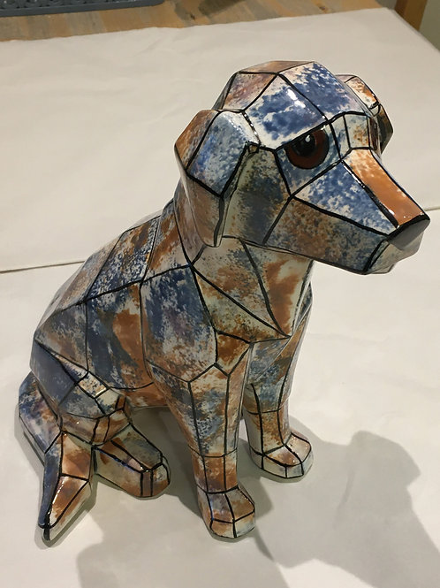 Large Faceted Dog