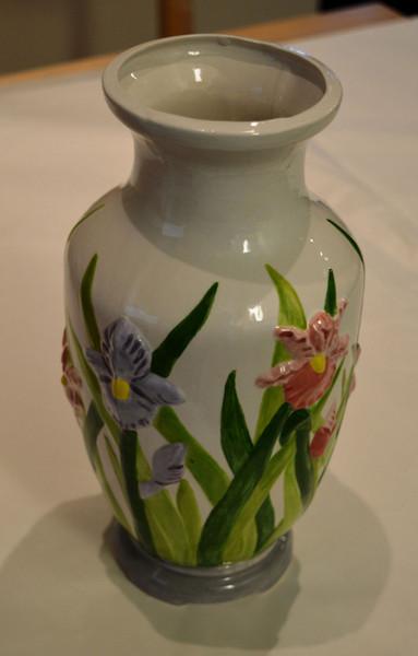 Flowers in relief vase