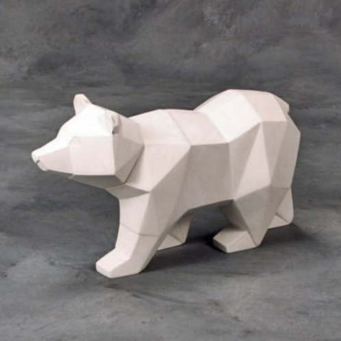 Faceted Bear Ornament
