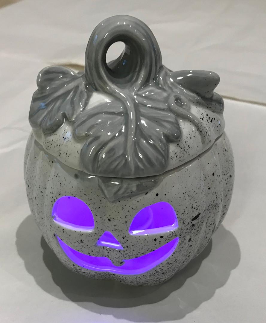 Grey Pumpkin Tealight