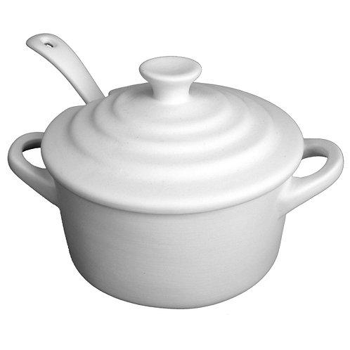 Sea Salt Pot With Lid