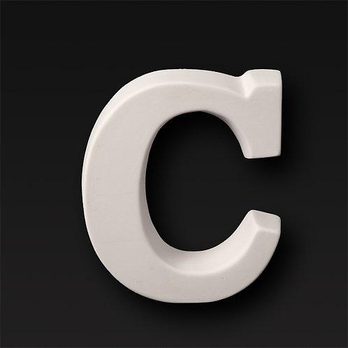 Letter C 12.7cm
