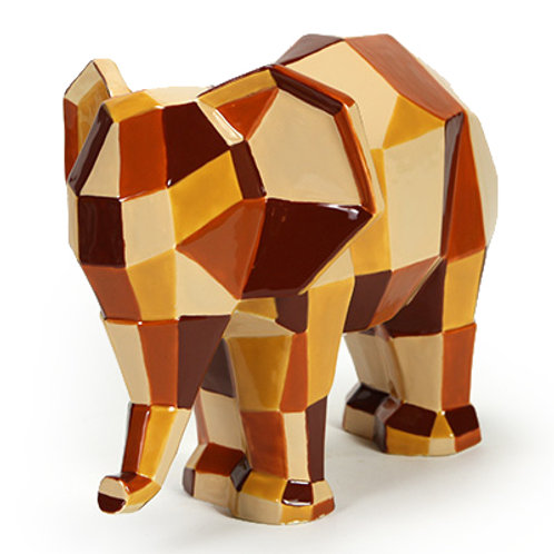 Faceted Elephant Ornament