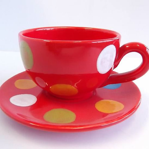 Large Cappuccino Cup & Saucer