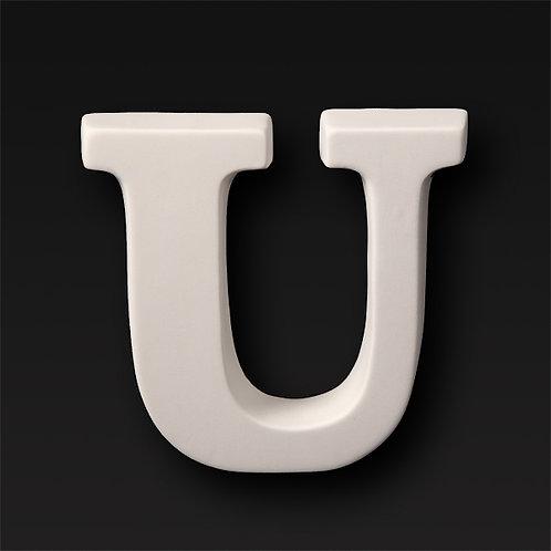 Letter U 12.7cm