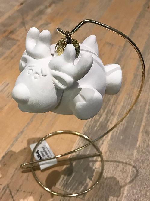 Chubby Reindeer Bauble