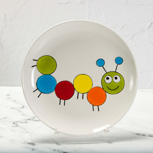 Paint by Numbers - Happy Caterpillar Plate