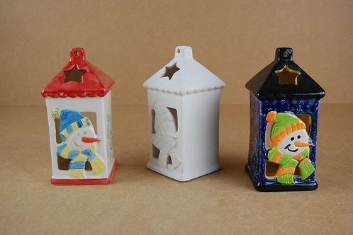 Christmas Snowman Tealight Lantern