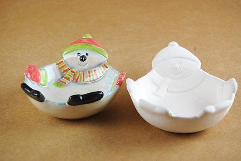 Winter Snowman Dish